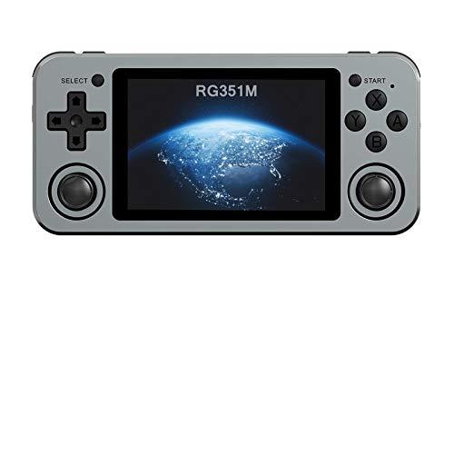Anbernic RG351M Consola Retro Portatil con 2500 Juegos Clásicos, Wifi Consola de Juegos Chip RK3326 soporta PSP,NDS,DC, 64GB Consolas de Videojuegos Retro 3,5 Pulgadas IPS