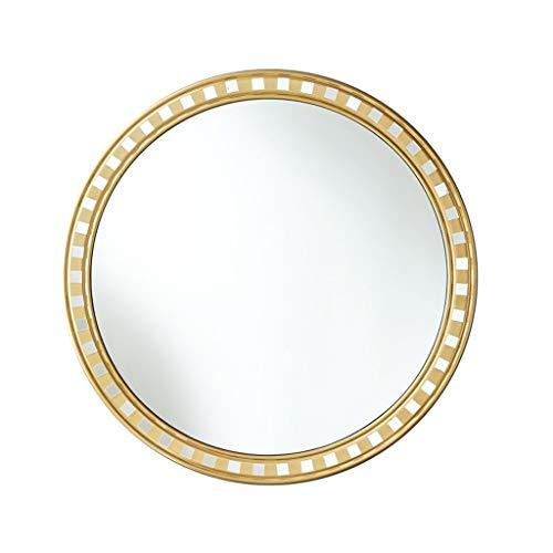 Miroirs Miroir Mural Miroir De Salle De Bain Antique Miroir De Chambre Miroir De Salle De Séjour Miroir De Décoration De Salon Miroir Rond Rond Rond Miroir (Color : Gold, Size : 70cm/27.5inches)