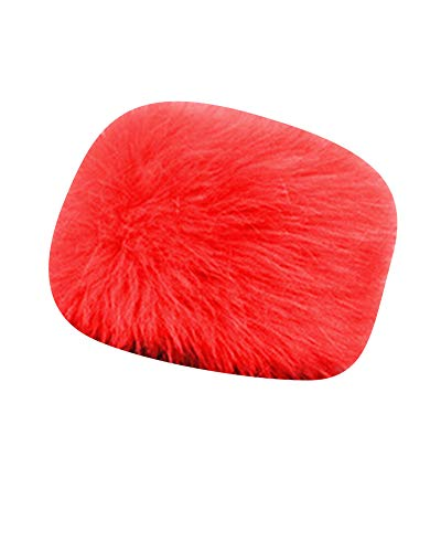 DianShaoA Mongolische Pelzimitat Mütze Damen Herren Russische Stil Dicke Skimütze Wintermütze Rot L