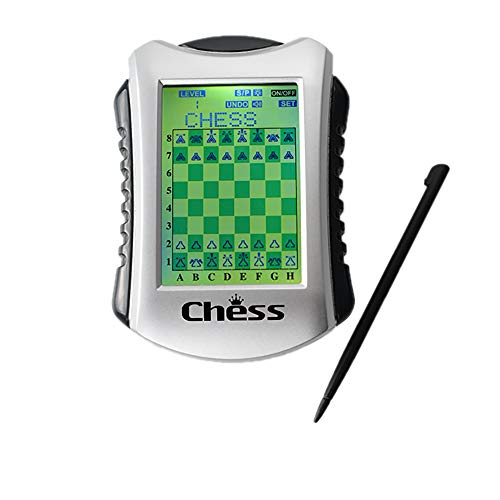Lyght Handheld Electronic Chess Game, 20 Levels, 100 Built-in Chess Records, Built-in Connect Four and Checker Game, Suitable for Children and Adults to Practice Chess, and can be Traveling Use.