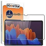 ebestStar - [Lote x2 Cristal Templado Compatible con Samsung Galaxy Tab S7+ SM-T970 Protector de Pantalla, Película Vidrio Ultrafina, Dureza 9H, Sin-Burbujas [Tab S7+: 285x185x5.7 mm, 12.4'']