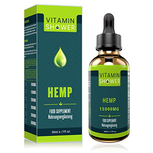 Hemp Seed Oil Drops with Powerful Formula | 30ML-15000MG | Natural Ingredients| Pure & Vegan|Omega 3 6 9