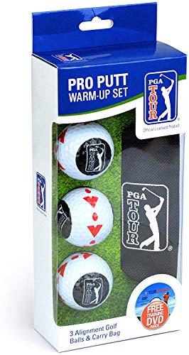 PGA Tour Golfbälle Pro Putt Trainingsset, Weiß, 0, PGAT150