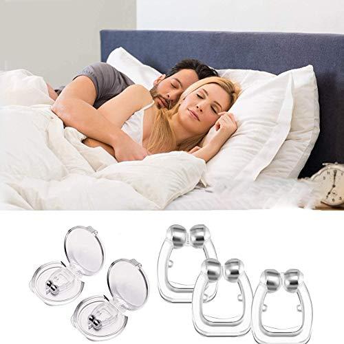 RHSML 3 STK. Anti-Schnarch-Geräte, Anti-Schnarch-Nasenclip Mit Schlafmaske, Schnarchstopp-Schnarchentlastung, Schnarch-Stopp-Gerät, Schnarchhilfen Für Männer Frauen