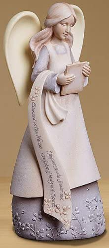 Blue Trim. Cream color resin Sarah/'s Angels McKenzie Angels Help You Soar With Amazing Grace  Figurine Hope Banner No.30411