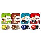 Café BICAFÉ Kit Compatibles Dolce Gusto* (CAPPUCCINO + CHOCOLATE + ESPRESSO + GOURMET) 64 Cápsulas DG