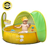 Automatic Instant Baby Tent with Pool,Pool Tent UV Protection Sun Shelters,UPF 50+ Beach