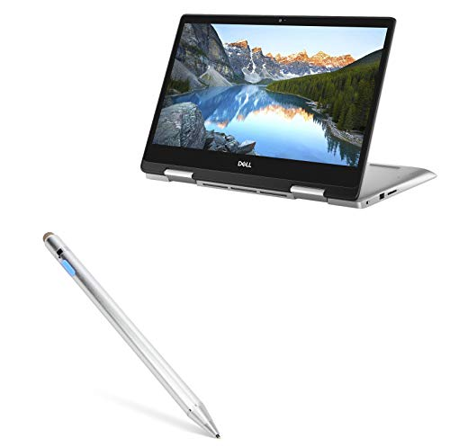 Dell Inspiron 14 5000 2-in-1 (14 in) Stylus Pen, BoxWave [AccuPoint Active Stylus] Electronic Stylus with Ultra Fine Tip for Dell Inspiron 14 5000 2-in-1 (14 in) - Metallic Silver