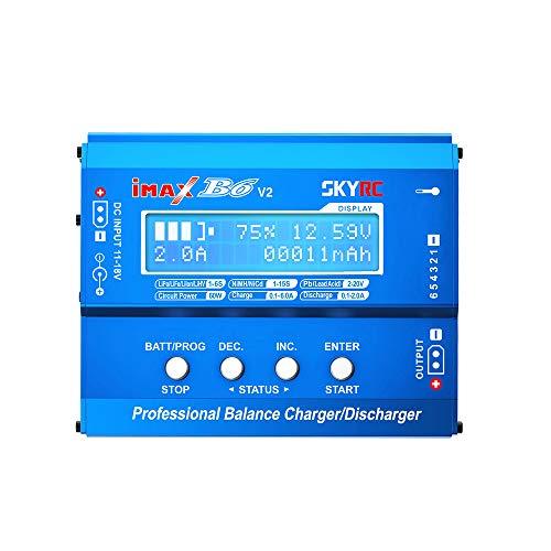 Tenlacum SKYRC iMAX B6 V2 60W 6A Multifunktions-Balance-Ladegerät / Entladegerät für LiPo Lilon Life LiHV NiCd NiMh Pb Kompatibel mit DJI Mavic Inspire Intelligent Battery