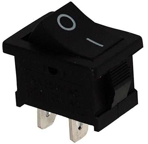 Aerzetix: Knopfschalter Switch Kippschalter Druckschalter SPST ON-OFF 6A/250V Schwarz 2 Positionen