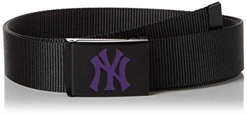 MSTRDS MLB Premium Black Woven Belt Single Ceinture, Schwarz (Purple 3376), 100 cm Mixte