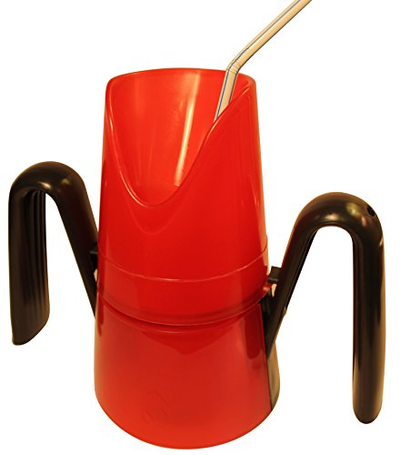 RiJe Dysphagia Cup Controlled Sips of Thin and Nectar-Thick Liquids for Difficulty Swallowing, Red, Made in Canada
