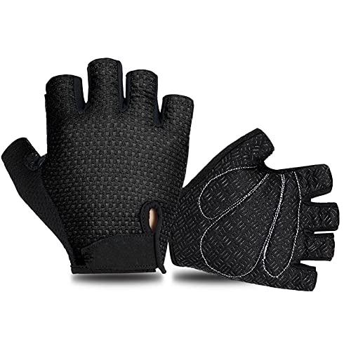 LULUMI Un par de guantes deportivos para montar en bicicleta guantes de ciclismo de medio dedo guantes antideslizantes MTB guantes ciclismo para arriba guantes transpirables para hombres y mujeres.
