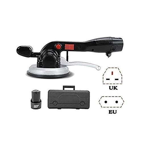 XBR Queiting elektrisk kakelmaskin, kakel, automatisk vibrerande gummihammare, verktyg för att lägga golv - maximal absorption 100 kg, kakel och beläggningar (färg: 1 x litiumbatterier)