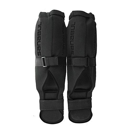 Sanabul Essential Shin Guards Black, Large/X-Large