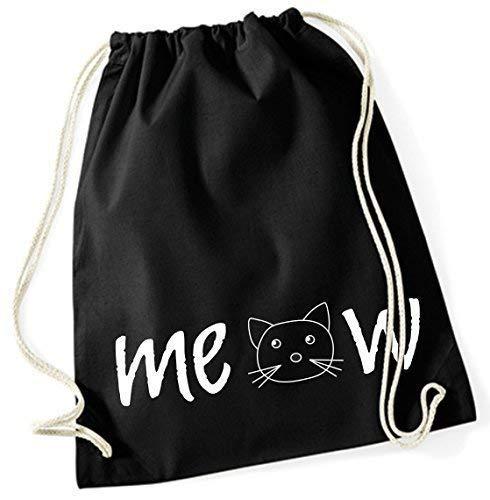 Mein Zwergenland Jute Meow, 12 L, Noir, Motif 21