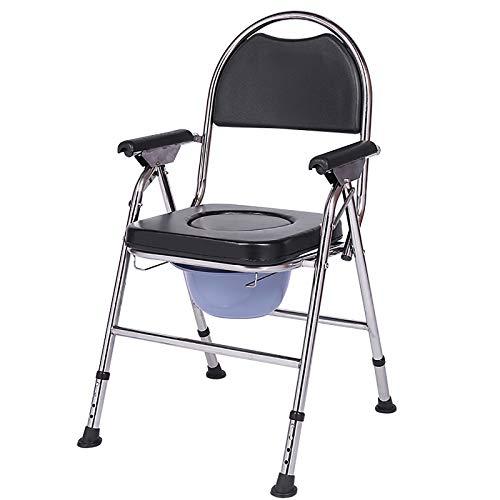 AYG Sedia da Toilette Pieghevole, Sedile da Toilette da Comodino Leggero, Perfetto per Anziani All'aperto E Anziani