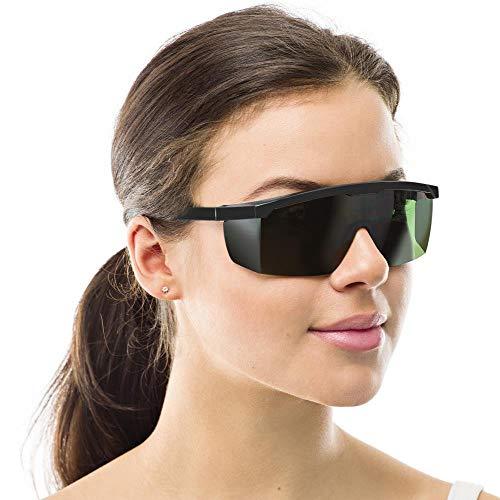 IPL Geräte Haarentfernung,Laserschutzbrille Lichtschutzbrille für HPL IPL Haarentfernung, Einstellbar IPL Haarentfernungsgerät Brille Abgedeckt