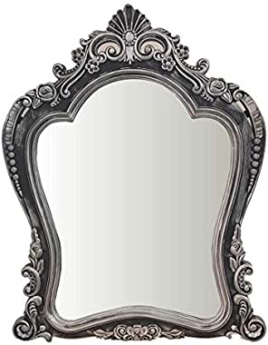 Resin Classic European Decorative Hallway Wall Mirror for Bathroom and Living Room