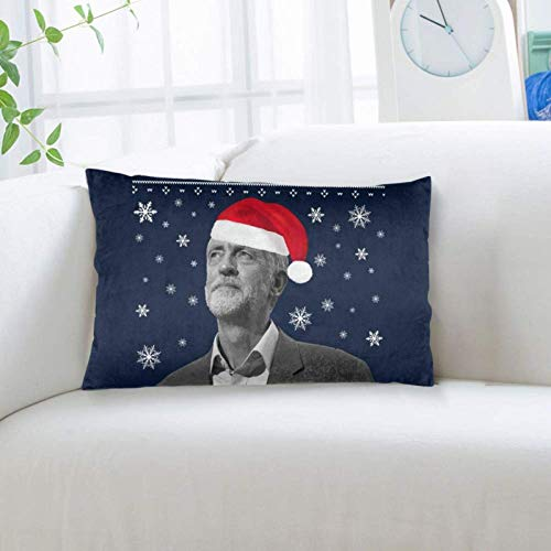 jichuang Size 20x36 Inch Pillowcase Jeremy Corbyn All I Want for Christmas Knit Pillow Cover with Hidden Zipper