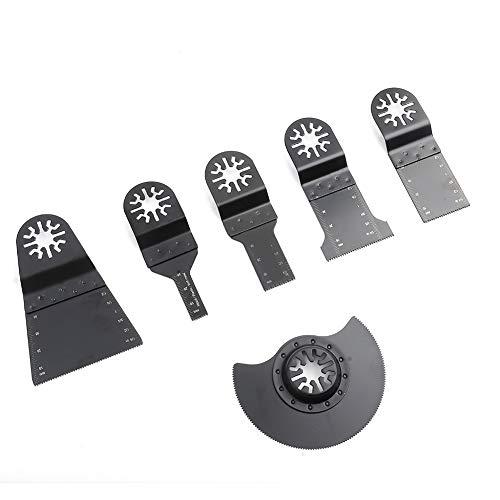 Lame per seghe, 6 pezzi Multiutensili oscillanti standard Lame per seghe in acciaio ad alto tenore di carbonio Utensili per troncatrice Lame per seghe circolari per lavori domestici Tagliare legno Pla