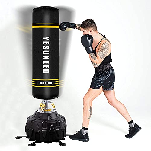 YESUNEED Freestanding Punching Bag 71''-260lb Heavy Boxing Bag with 24 Suction Cups Base for Adult...