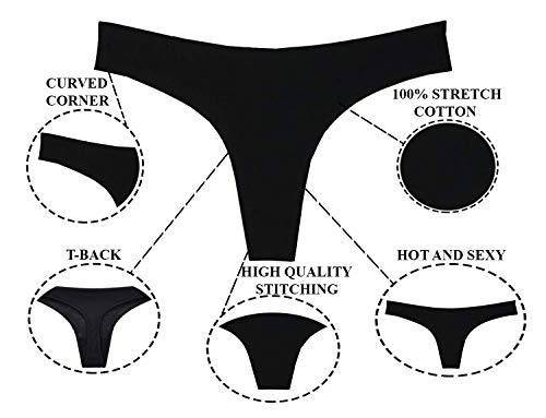 THE BLAZZE Women's Thong Low Rise Sexy Solid G-String Thong Bikini T-String Sexy Lingerie Panties Briefs (Small(32