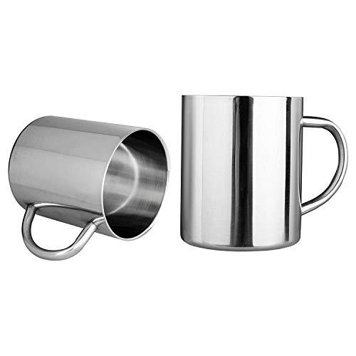 BOINN 13.5Oz/ 400Ml Doppel Wandige Kaffee Tassen Edelstahl Tee Tassen Kinder Camping Tassen, Set Von 2