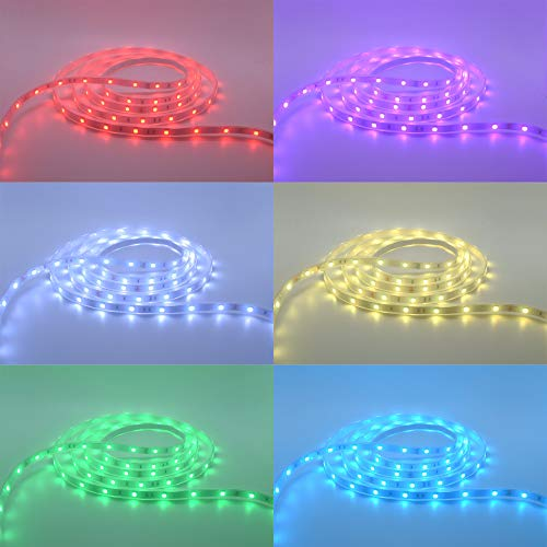 200Ft (2x100Ft) Long Run Waterproof IP67 24V RGB LED Strip Rope Light Music Sound SYNC Controller for Home Theater Backlight Crown Molding Accent Outdoor Roof Decks Railings Colors Lighting Decoration 3