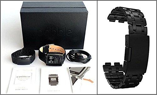 Pebble Steel Smart Watch – Black Matte