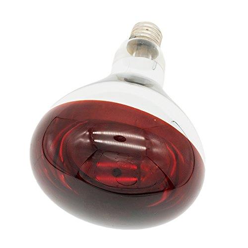 Fengrun Infrared Heating Lamp Light Bulb 250Watt Dark Red Hard Explosion-Proof Glass for Chicken Farm, Pig Farm, Pets, Warming Bulbs Bathroom Winter(125x183mm,120V)