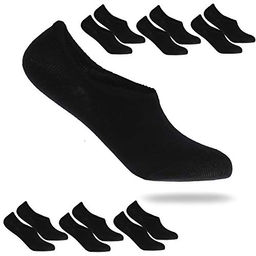 REFLEXX 6er und 12er Pack Invisible Socks - kurze Sneaker Socken Damen Sneaker Socken Herren mit 97prozent Baumwolle (6er Pack Schwarz, 35-38)