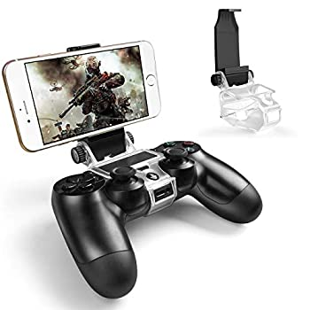 PS4 Controller Phone Mount Megadream 180 Degree Adjustable Android Smartphone Game Clip Bracket Holder for PS4 PS4 Slim PS4 Pro Samsung Galaxy HTC One LG Sony Xperia Moto with OTG Cable