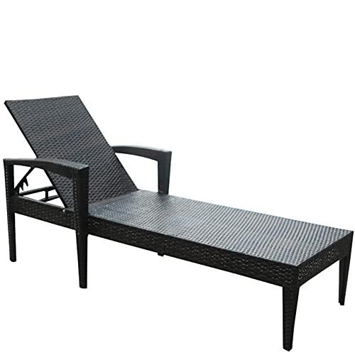 FC-Bed Silla de chaiseo al Aire Libre, Patio Ajustable Aluminium Chaise Lounge Silling Recliner, 5 Posiciones Acabilitación Ajustable, Reclinadores Plegables para Piscina de Playa