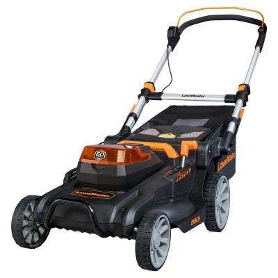 LawnMaster 19 in. 60-Volt Brushless Lithium-Ion Cordless Battery Walk Behind Push Mower - 5.0 Ah Battery/Charger Included