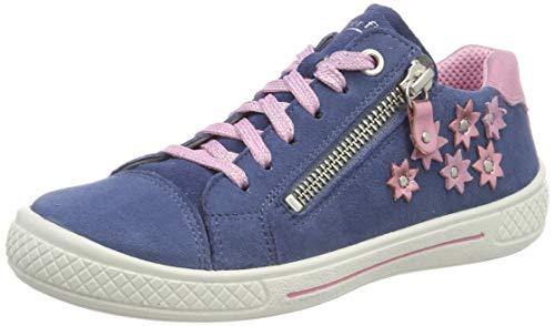 Superfit Mädchen Tensy Sneaker, Blau (Blau/Rosa 80), 25 EU