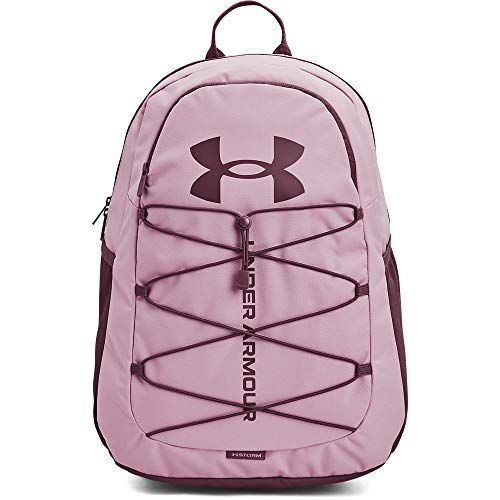 Under Armour Adult Hustle Sport Backpack , Mauve Pink (698)/Ash Plum , One Size Fits All