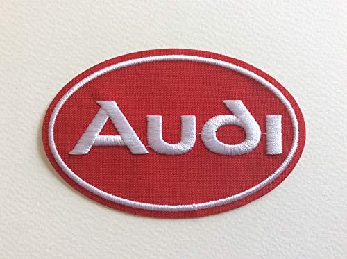 A245 Patch Ecussion Auto Deutschland – oval rot 10 x 6,5 cm