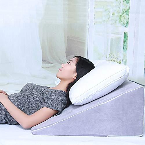 三角クッション胃食道逆流防止スロープマットレス反逆胸焼け枕の枕カバー術後ケア,60cmwideand18cmhigh