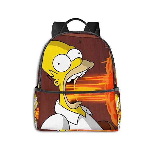 41SHEo06R L. SS600  - The Simpsons - Mochila para Estudiantes, Unisex, diseño de Dibujos Animados, 14,5 x 30,5 x 12,7 cm