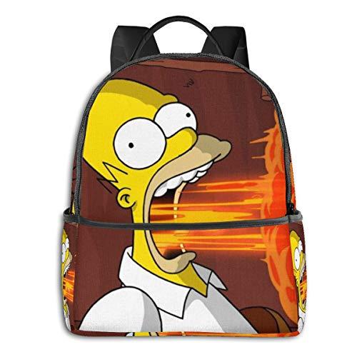 41SHEo06R L - The Simpsons - Mochila para Estudiantes, Unisex, diseño de Dibujos Animados, 14,5 x 30,5 x 12,7 cm