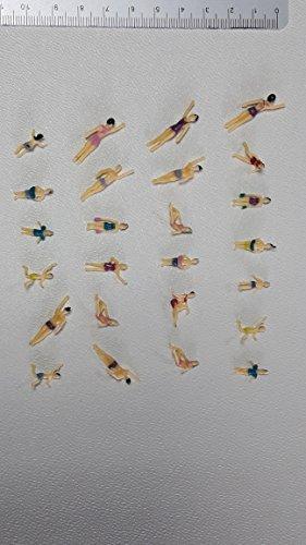 Unbekannt 25 Figuren zu Spur H0 Schwimmer Schwimmbad Freibad Wasser 1:87 NEU Konvolut Set