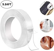 alfa mart-reusable nano adhesive tape washable double-sided adhesive tape, multifunctional traceless glue tape and strong gel, suitable for kitchen, glass, metal,cellphone (3 m)