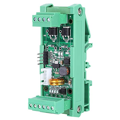 Weikeya Controlador lógico programable, con plástico Opcional 2ad 0-10v Transistor Logic Logic Relay para la Entrada analógica