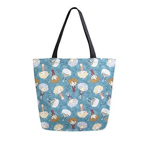 Golden Girls Shoulder Tote Bag Purse Top Handle Satchel Handbag For Women Work School Travel Business Shopping Casual