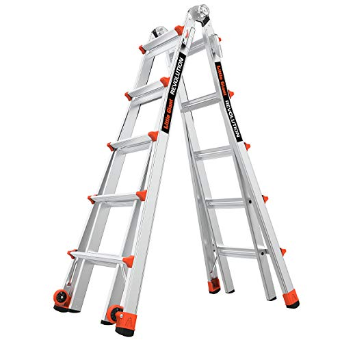 Little Giant Ladder Systems 12022 Revolution Use 22 Foot MultiPurpose Ladder Ft Gray