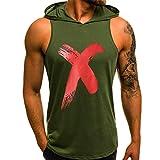 Männer Hoodie Herren Ärmelloser Kapuzenpullover T-Shirt mit Kapuze Tank-Top aus Baumwolle Pullover und T-Shirt S-XL Tops CICIYONER