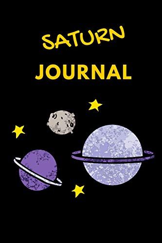 Saturn Journal: lined saturn journal notebook notepad diary to write in