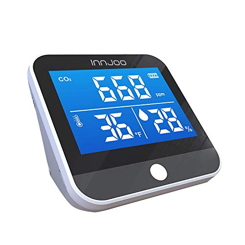 Medidor Co2 InnJoo - Detector de CO2 - Analizador de calidad del aire portátil digital - CO2 - PM2.5 –...