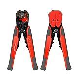 Pelacables, Blusmart Auto-Herramienta de ajuste automático de desmontaje del alambre con ProTouch apretones AWG 24-10 (0,2~6,0 mm²) - Cutter y Crimpadora (naranja con gris)